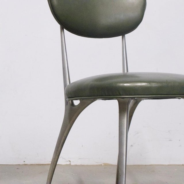"Shelby Williams Shelby Williams Sculptural Aluminum Frame ""Gazelle"" Chairs - Set of 8 For Sale - Image 4 of 11"