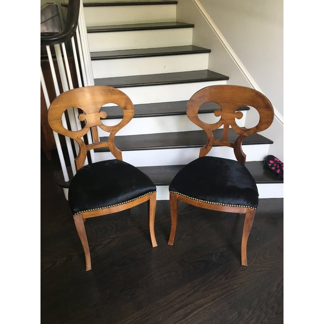 Pair of 19th Century Biedermeier Chairs For Sale - Image 9 of 9