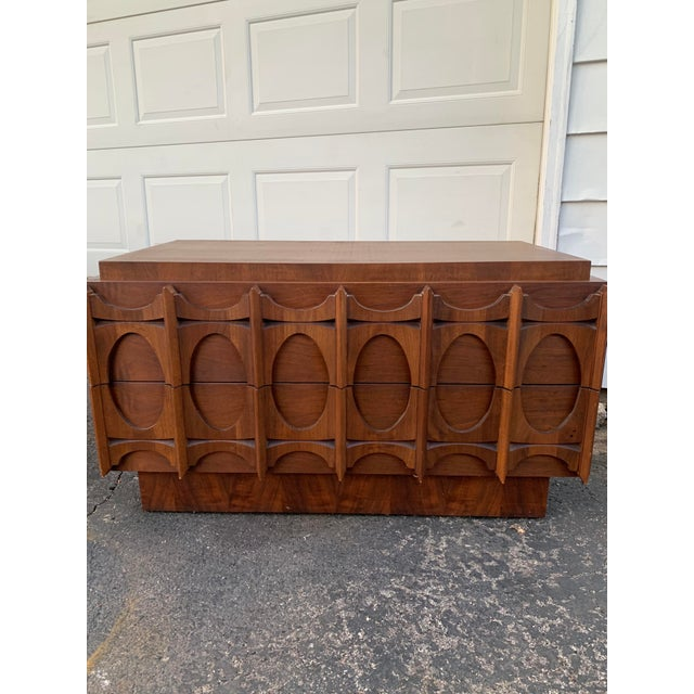 1970s Vintage Brutalist Canadian Walnut Gentlemen's Chest For Sale - Image 11 of 13