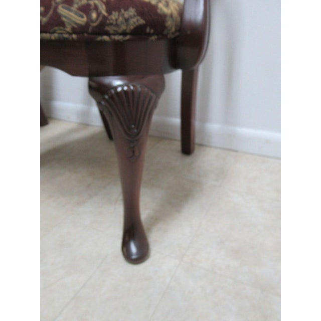 Thomasville Thomasville Solid Mahogany Chippendale Arm Chairs - A Pair For Sale - Image 4 of 10