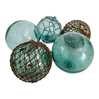Japanese Fishing Sea Floats - Set of 5 For Sale