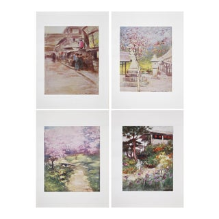 1901 M.Menpes Lithographs of Japan Prints - Set of 4 For Sale