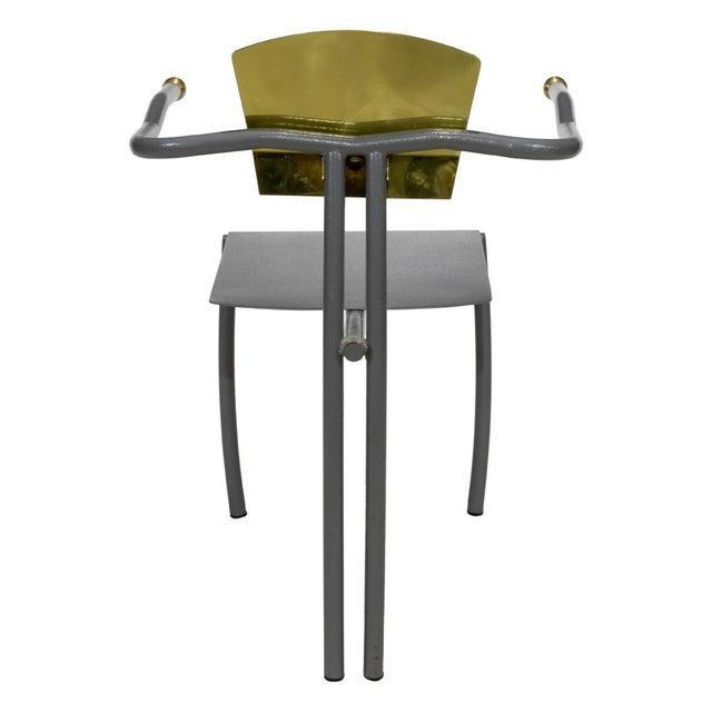 Brutalist 1980s Vintage Sculptural Memphis Style Arm Chair For Sale - Image 3 of 9