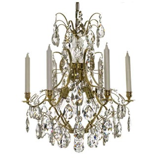Baroque Chandelier - 6-Candle Brass For Sale