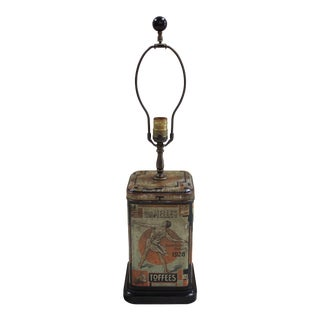 1928 Olympic Dutch Toffee Canister Lamp For Sale