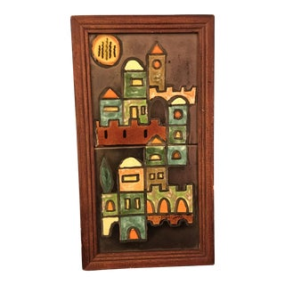 Vintage Ceramic Tile Artwork From Israel For Sale