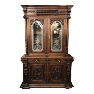 French Renaissance Walnut Bookcase