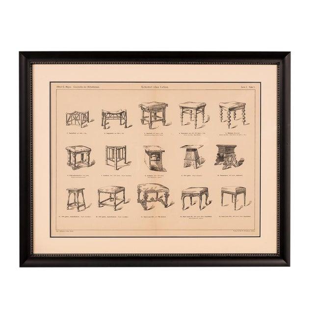 Sarreid Ltd. Antique Framed Chair Book Page For Sale