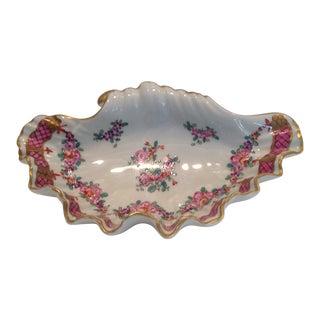 Paris Porcelain Shell Form Dish For Sale