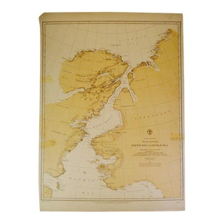 Antique 1885 Nautical Chart North American Polar Regions Baffin Bay to Lincoln Sea No. 962 For Sale