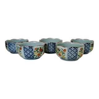 Japanese Imari Bowls, Set of 5 For Sale