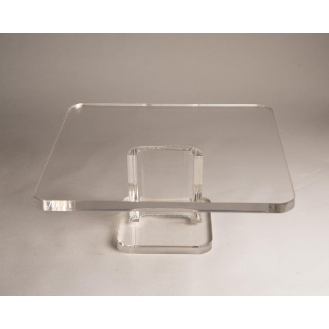 1970s Vintage Lucite Cake Plate Holder/Stand For Sale - Image 4 of 9