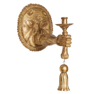 Italian Carved Giltwood Sconce For Sale
