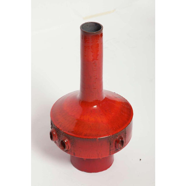 Ceramic Large Red Ceramic Amphora Vase,Belgium ,1960s For Sale - Image 7 of 10