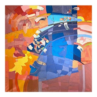 Monumental Abstract Contemporary Oil on Linen Painting by Martorana, Australia For Sale