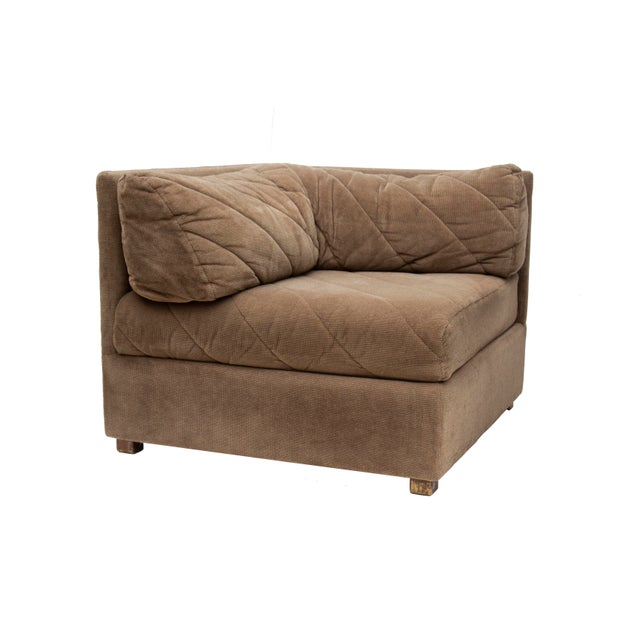 Brown Modular Sectional Sofa by Selig, 5 Pieces For Sale - Image 8 of 13