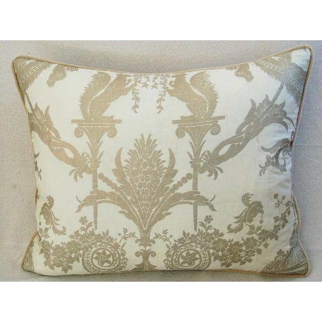 Designer Italian Fortuny Lamballe Pillows - Pair - Image 5 of 11