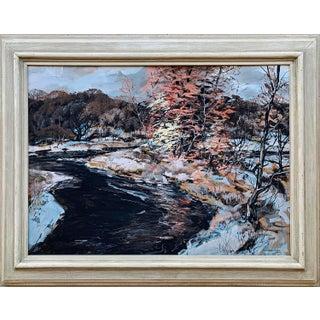 """October Snow"" Carl Frederick Gaertner (American, 1898-1952) Oil on Masonite For Sale"