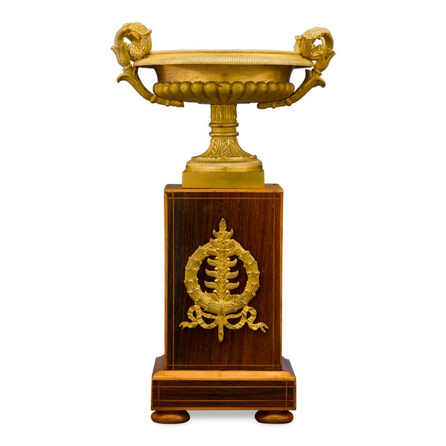 Empire Charles X Bronze and Inlaid Urns For Sale - Image 3 of 7
