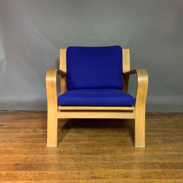 Danish Modern Hans J. Wegner Ge671 Oak & Flag Halyard Lounge Chair, Getama For Sale - Image 3 of 13