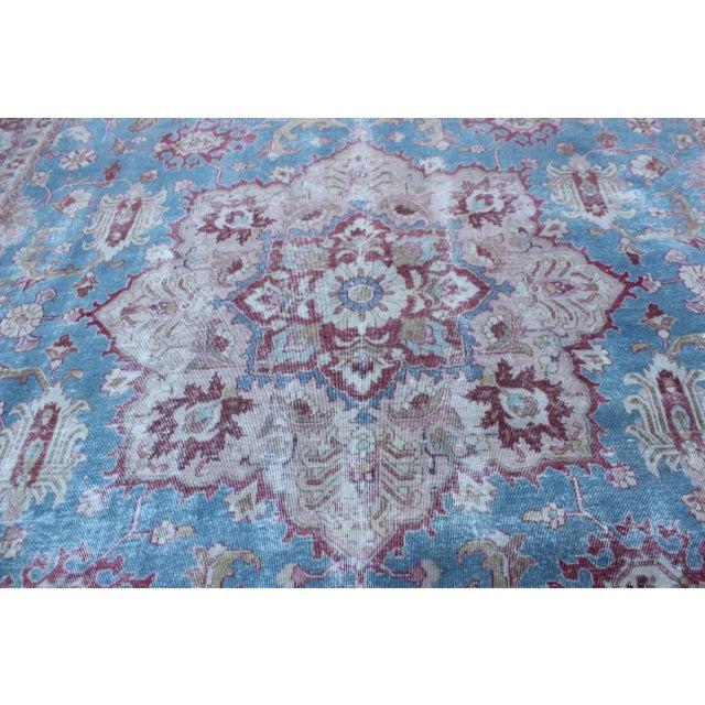 1930s Vintage Tabriz Wool Rug - 7′ × 10′1″ For Sale - Image 5 of 9