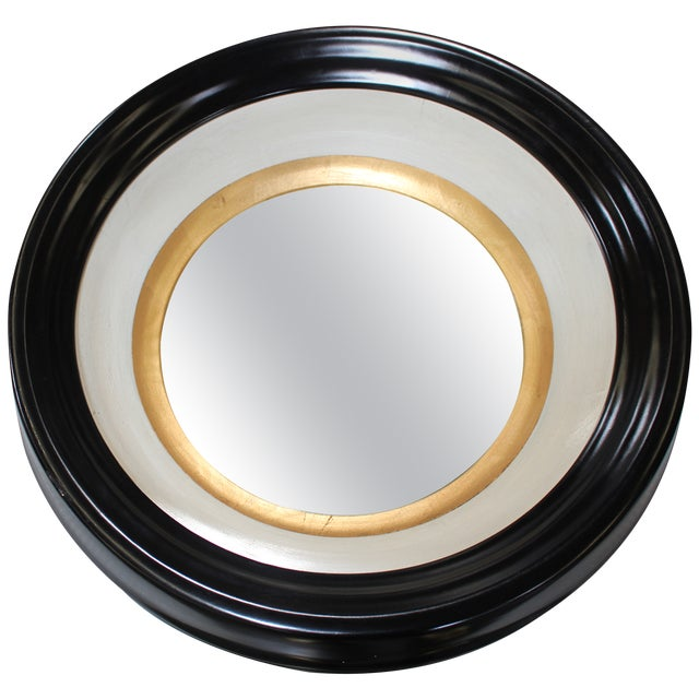 Round Black and Gold Wall Mirror - Image 6 of 6