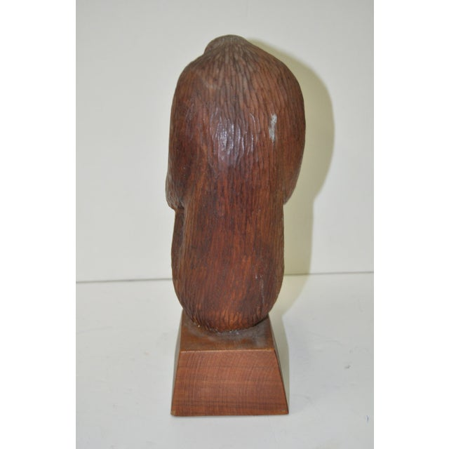 Mid Modern Wood Sculpture C.1960 - Image 6 of 7