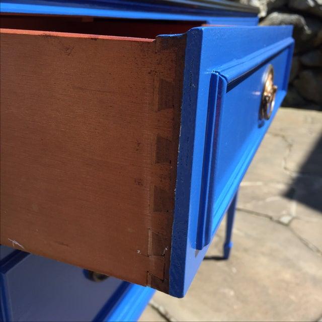 Vintage Blue Painted Sideboard Buffet - Image 5 of 6