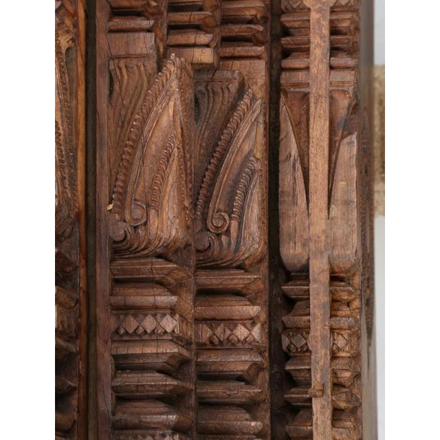 Antique Teak Carved Wood Door Frame For Sale - Image 9 of 12