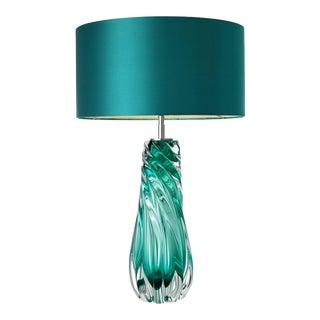 Teal Blown Glass Table Lamp   Eichholtz Barron For Sale