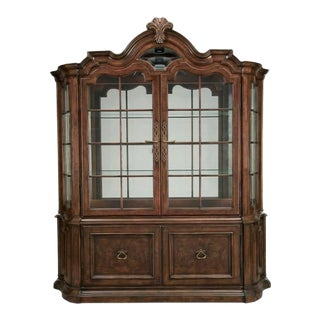Thomasville Furniture Hills of Tuscany San Martino Dark Rustico Dining China Cabinet For Sale