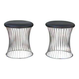 Warren Style Platner Low Stools - A Pair