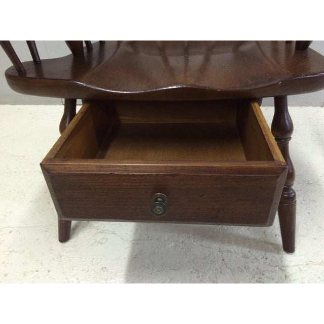 Wood Pennsylvania House Comb Back Windsor Writing Chair For Sale - Image 7 of 10