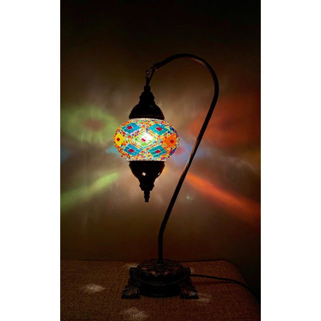 This decorative mosaic table lamp just like exquisite artwork. Soft lights make you feel comfortable. Exquisite home...