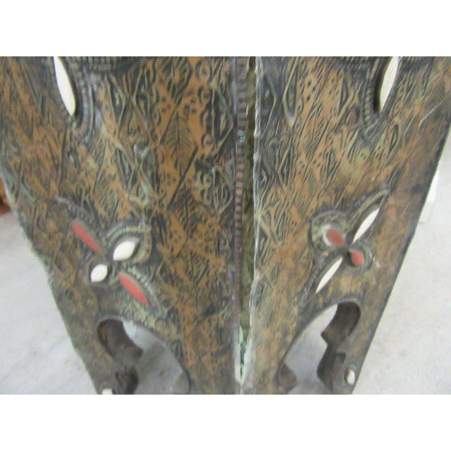 Tin & Gemstone Moroccan Occasional Table - Image 4 of 7