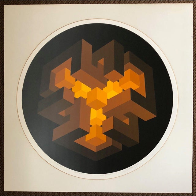 For your consideration we are presenting for sale a vintage op-art serigraph by artist, Brian Halsey. It is numbered...