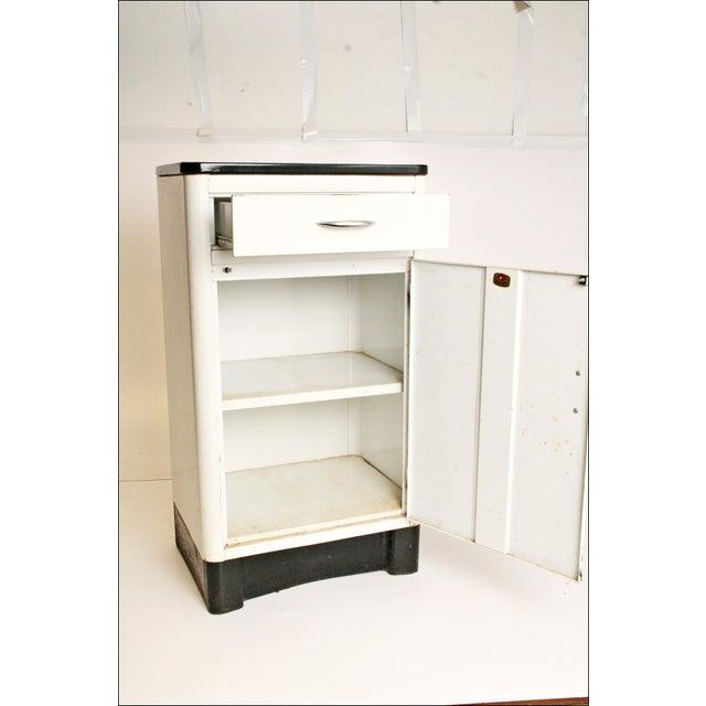 Mid-Century Enamel Top Metal Storage Cabinet - Image 6 of 11