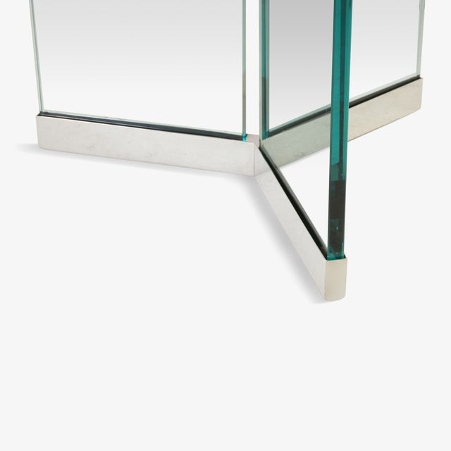 Pace Tri-Base Glass Cocktail Table by Leon Rosen for Pace For Sale - Image 4 of 5