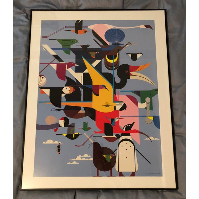 "Charley Harper Framed ""Wings of the World"" Print - Image 7 of 7"