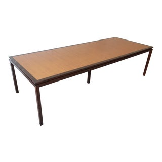 Edward Wormley for Dunbar Walnut Extension Dining Table For Sale