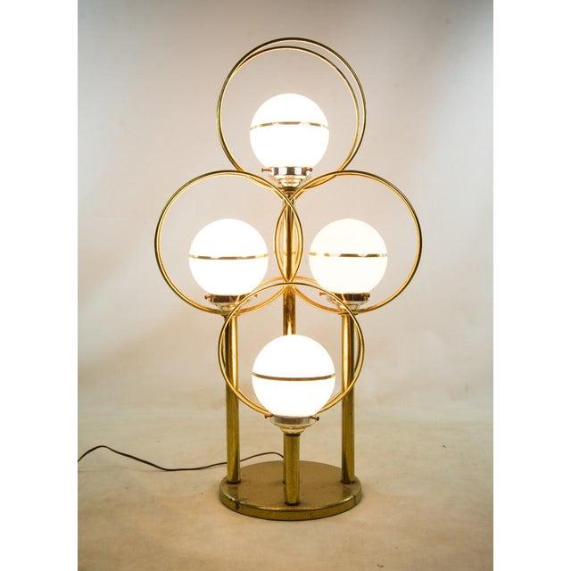 1950s Mid Century Modern Brass Tier 4 Globe Table Lamp Chairish