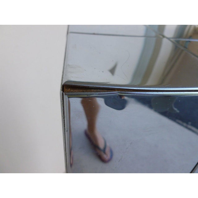 1970's Vintage Paul Evans Cityscape Style Chrome Patch Pedestal For Sale In Miami - Image 6 of 11
