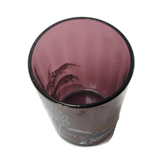 Antique Victorian Purple Glass Tumbler For Sale - Image 4 of 6