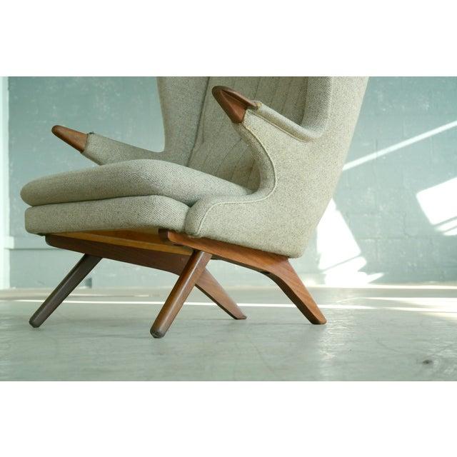 Mid-Century Modern Sven Skipper 1960s Papa Bear Chair Model 91 in the Style of Hans Wegner For Sale - Image 3 of 11