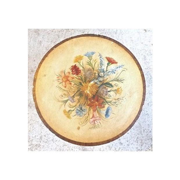 Vintage Italian Hand-Painted Floral Footstool - Image 5 of 5