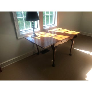 20th Century Traditional Walnut Veneer Draw Leaf Table Preview