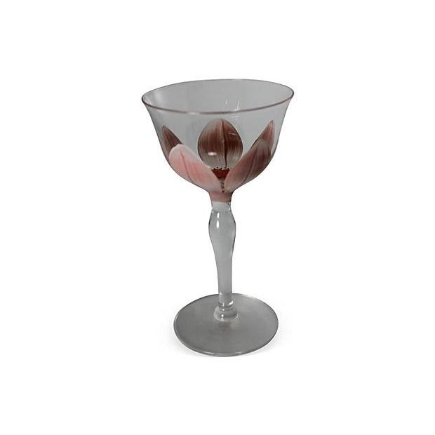 1930's Hand Crafted Wine Glasses - Set of 8 - Image 5 of 6
