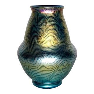 Early 20th Century Antique Tiffany Favrile King Tut Damascene Vase For Sale