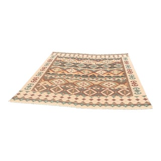 "Persian Flat Weave Kilim Rug - 9'2"" X 12'2"" For Sale"