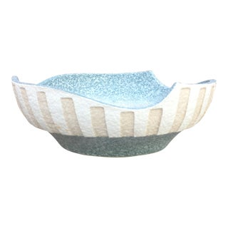 1950's Japanese Art Pottery Flower Bowl For Sale